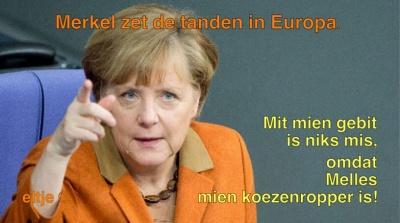 Merkel stemt Melles