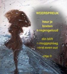 Weerspreuk - regen
